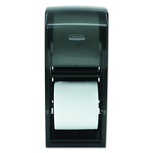 Kimberly-Clark Professional 09021 Coreless Double Roll Bath Tissue Dispenser, 6 6/10 x 6 x13 6/10, Plastic, Smoke (Plastic Dispenser Tissue)