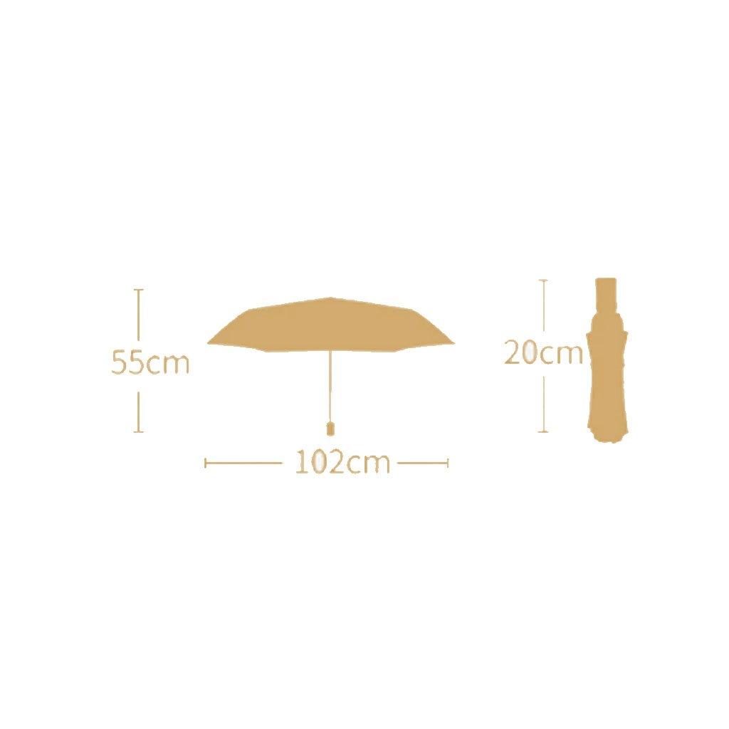 Teng Peng- Compact Travel Umbrella- Fashionable Portable Parasol Folding Umbrella Sun Shade Anti-uv Fast Drying Windproof Travel Umbrella for Women Household Umbrella (Color : 1) by Teng Peng (Image #2)