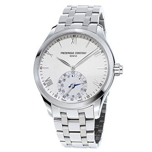 Frederique Constant Men's Horological Smart Watch Swiss-Quartz Stainless-Steel Strap, Silver, 21 (Model: FC-285S5B6B)