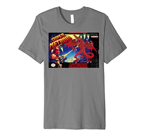 Nintendo Super Metroid Classic Box Art Premium T-Shirt