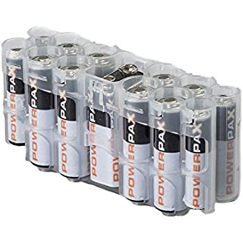 Storacell by Powerpax A9 Multi-Pack Battery Caddy, Clear