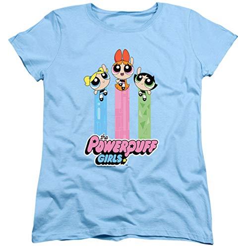 Powerpuff Girls Cartoon Network Girls Fly Women's T Shirt & Stickers (XX-Large) ()