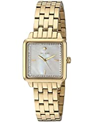 kate spade new york Womens Washington Square Quartz Stainless Steel Casual Watch, Color:Gold-Toned (Model:...