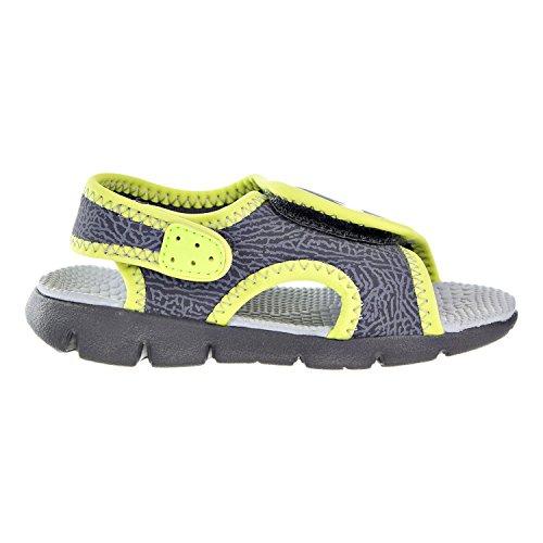 Nike Boy's Sunray Adjust 4 (TD) Toddler Sandal (5 Toddler M, DARK GREY/WOLF GREY-VOLT)