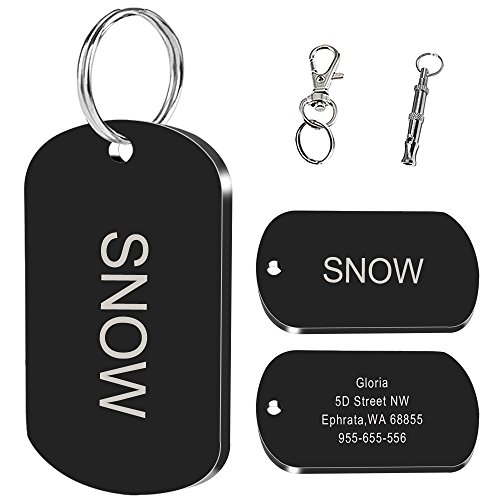 Didog Stainless Steel Custom Pet ID Tags for Medium and Big Dogs,Personalized Engrave,Multi-color