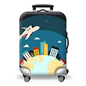 TDC Men's Elastic Luggage Cover Airplane Printing S Airplane
