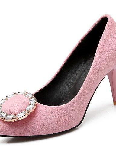 GGX/Damen Schuhe Stiletto Heel Spitz Zulaufender Zehenbereich Kristall Pumpe mehr Farbe erhältlich burgundy-us6.5-7 / eu37 / uk4.5-5 / cn37
