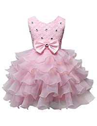 Csbks Girl Wedding Party Dress Pageant Baby Ruffles Tulle Princess Dresses