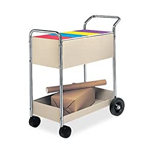 Amazon Fellowes Steel Mail Cart 150 Legal Sized