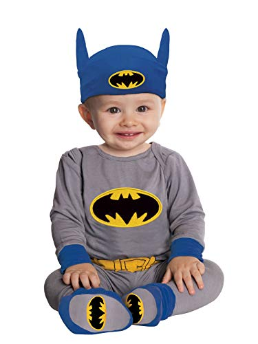 DC Comics Gray Batman And Headpiece, Gray, 6-12 Months Costume -