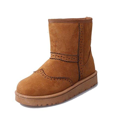 MEILI Damenschuhe, Damenstiefel, Stiefel, rutschfeste, Baumwollstiefel, Schneeschuhe, verdickt, warm, Damenstiefel, flache Schuhe, Stiefel, Mode, lässig, wild yellow