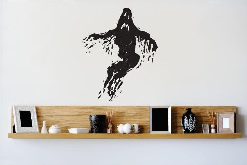 Vinyl Wall Decal Sticker : Ghost Scary Halloween Evil Movie Bedroom Bathroom Living Room Picture Art Peel & Stick Mural - Discounted Sale Price Size: : 20 Inches X 40 (Discounted Halloween Decor)