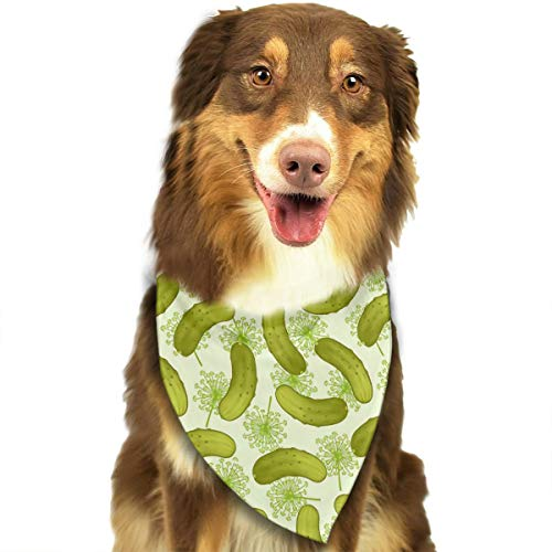 OURFASHION Dill Pickles Bandana Triangle Bibs Scarfs Accessories for Pet Cats and Puppies.Size is About 27.6x11.8 Inches (70x30cm).