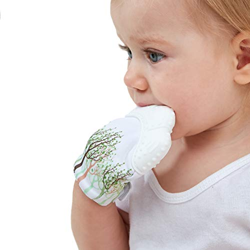 Baby Teething Mitten Toy for Self-Soothing Pain Relief and Chewing