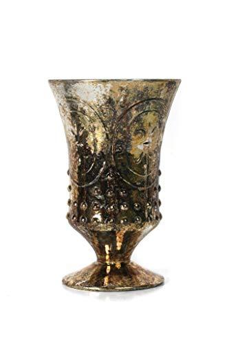 Loving Cup Gold - Direct Décor Vase/Loving Cup Mercury Glass Burnt Gold Fleur de lis 6