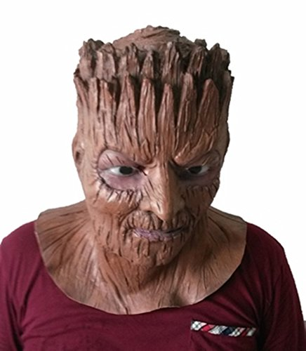 Dryad Halloween Costume (Dryad Elf Full Head Latex Mask For Mask Festival,Halloween,Cosplay,Costume)