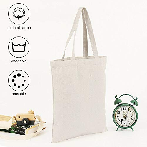 HEOMU Borse per spesa in tela con manici Confezione da 3 sacchetti riutilizzabili Organizzatore di immagazzinaggio pieghevole con manici Borsa amichevole
