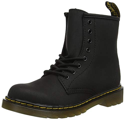 Dr. Martens Kid's Collection Unisex 1460 Serena (Little Kid/Big Kid) Black Mohawk/Black Mohawk Non Woven Synthetic 11 M UK for $<!--$64.95-->