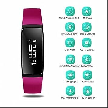 Montre connectée d'exercice pour homme et femme (podomètre,