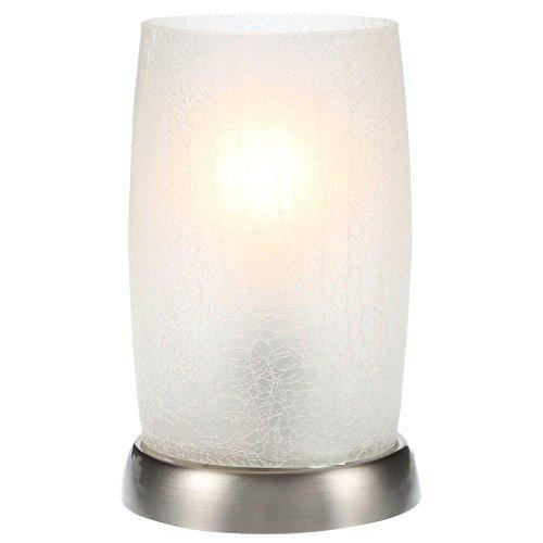 Hampton Bay 8.5 in. Silver Metallic Accent Lamp