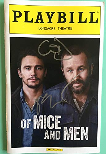 James Franco and Chris O'Dowd Signed Color Playbill from Of Mice and Men at the Longacre Theatre starring James Franco Chris O'Dowd Leighton Meester Jim Norton Written by John Steinbeck (Chris O Dowd Of Mice And Men)