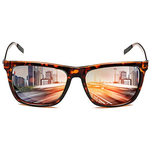 Rocknight Polarized Square Lightweight Full Frame Vintage Mirrored Tea Lens Aluminum Sunglasses - Rock Party Sunglasses