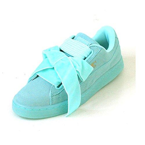 PUMA zapatos bajos de las zapatillas de deporte de las mujeres 363 229 01 SUEDE REINICIAR WN DE CORAZÓN ARUBA BLUE-ARUBA BLUE