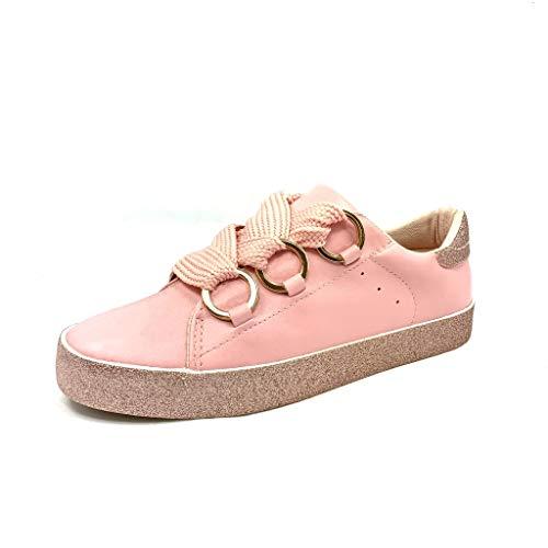 Flat Heel Cm Sports Fashion Rosa Anelli Strass AngkorlySneakers 2 Donna Glitter Tennis QrthdCs
