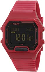 KR3W Men's K1325BGDY Terminal Burgundy Digital Watch