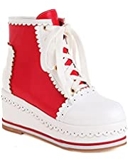 Dames Cosplay Lolita Shoes Cute Lace Up Schoenen Mode Platform Sneakers Enkellaars