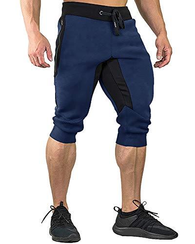Three Quarter Leg - FASKUNOIE Joggers Pants Three Quarter Capri Pants Cotton Breathable 3/4 Long Shorts Jogging Running
