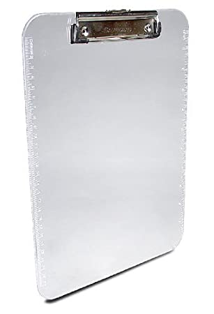 Saunders Plastic Clipboard With Low Profile Clip, Clear, Letter Size, 8.5  Inch X