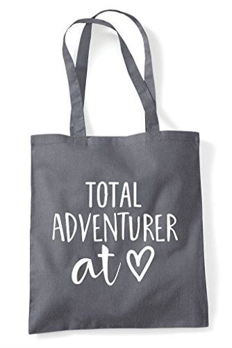 Tote At Adventurer Grey Statement Dark Total Shopper Bag Heart OI1F5B