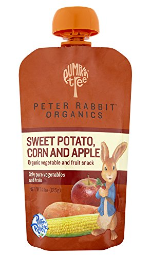 Peter Rabbit Organics, Sweet Potato, Corn and Apple Puree, 4.4-Ounce Pouches (Pack of 10)
