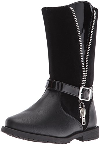 Rachel Shoes Girls' Lil Nicki Boot, Black Combo, 10 M US Toddler (Girls Toddler Riding Boots)