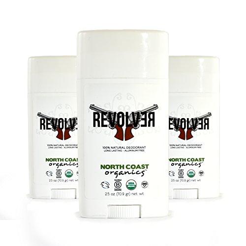 North Coast Organics - All Natural Deodorant Revolver (Pack of 3)