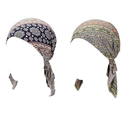 Turban Hat Head Scarf Wrap Cancer Chemo Hair Loss Cap for -