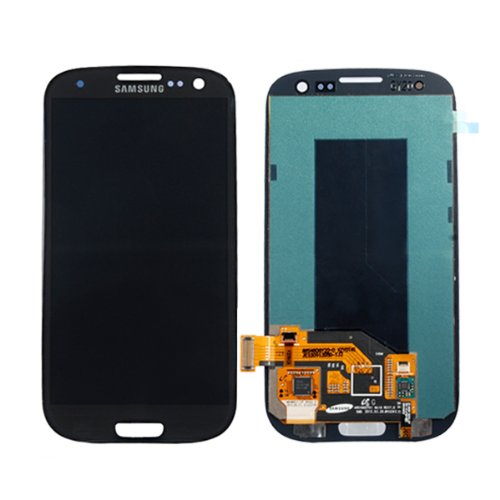 Full LCD & Touch Screen Digitizer Glass Assembly Full Set LCD With Touch Screen Replacement For Samsung Galaxy S3 S III GT- I9300 - Black (By Orange Hong Kong)