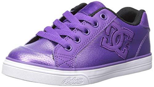 - DC Girls' Chelsea SE Skate Shoe, Lavender, 3 M M US Little Kid