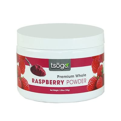 Tsogo Premium Whole Fruit Raspberry Powder, 102g 48 Servings of Premium Quality 100% Whole Freeze-Dried Raspberry Fruit Powder - No Added Flavors, Fillers or Sugars from Tsogo