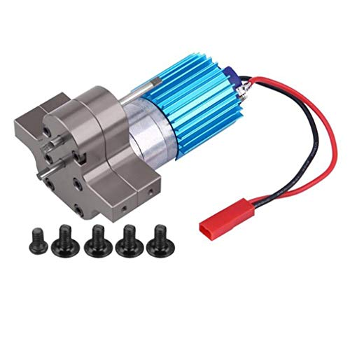 AUWU Replacement for WPL 1633 RC Car Speed Change Gear Box Metal Gearbox 370 Brush Motor Anodizing Treatment (Brush Motor 370)