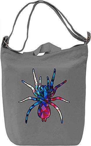 Geometric Spider Borsa Giornaliera Canvas Canvas Day Bag| 100% Premium Cotton Canvas| DTG Printing|