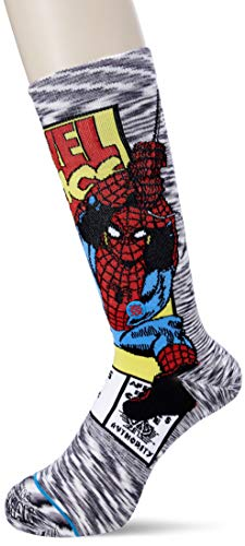 Stance Men's Spiderman Comic, Grey, Large