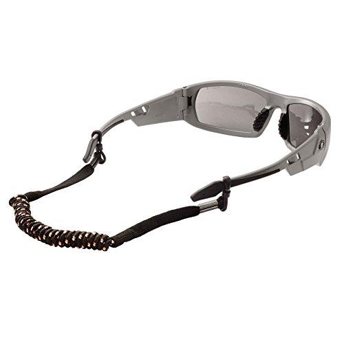 Ergodyne Skullerz 3280 Elastic Coil Eyewear Lanyard, Black