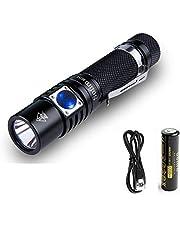 Sofirn SC31 USB wiederaufladbare Taschenlampe inklusive 18650 Akku, CREE XPG3 LED Maximal 610 Lumen Hell genug für Camping, Wandern, Bootfahren, Gassi gehen, edc