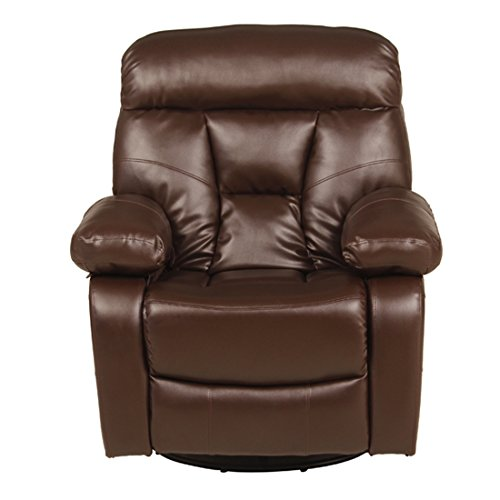 Woodness Parker Premium Single Seater Manual Swivel and Rocker Recliner  Brown