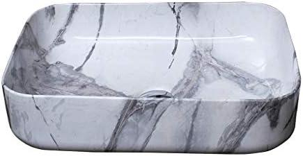 DS- バスルームの洗面台、(タップなし)石粒セラミックカウンター盆地ホームシンクの洗面化粧台芸術流域シングル盆地、51X41X14cm 洗面ボール && (Size : 51X41X14cm)