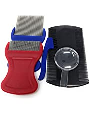 MARS Wellness Premium 5 Piece Lice Kit - Nit Removal Fine Tooth Comb And Magnifier Full Treatment Set
