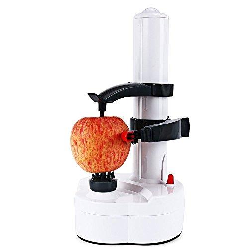 Magicook Potato Peeler Electric Auto Rotating Apple Vegetable Fruit Peeler Potato Peeling Machine Automatic Stainless Steel (Apple Peeling Machine)