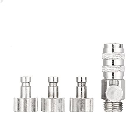 1//8 Airbrush Quick Adapters Disconnect Release Coupling Connector for Air Brush